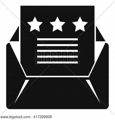 Attestation Mail Icon. Simple Illustration Of Attestation Mail Vector Icon For Web Design Isolated O