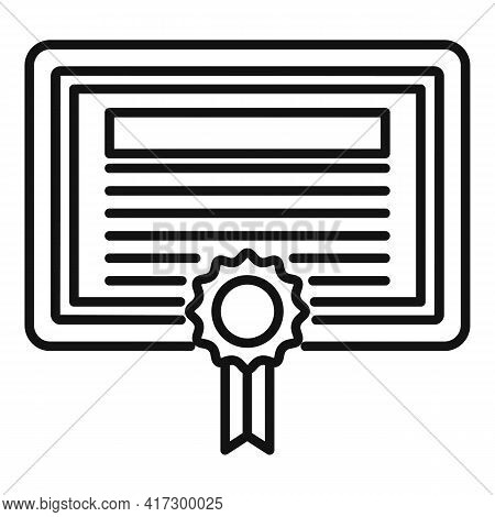 Attestation Certificate Icon. Outline Attestation Certificate Vector Icon For Web Design Isolated On