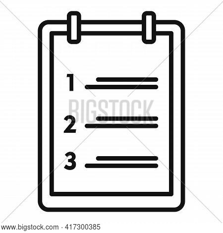 Habit Clipboard Icon. Outline Habit Clipboard Vector Icon For Web Design Isolated On White Backgroun