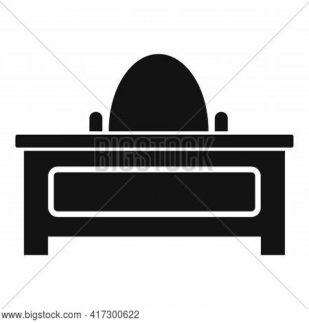 Desktop Space Organization Icon. Simple Illustration Of Desktop Space Organization Vector Icon For W