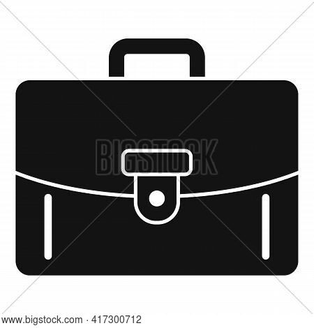 Leather Briefcase Icon. Simple Illustration Of Leather Briefcase Vector Icon For Web Design Isolated