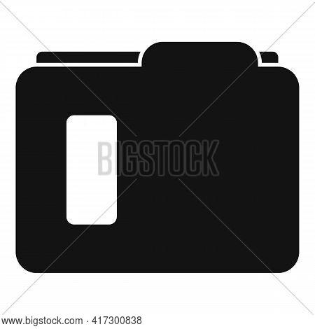 Carton Folder Icon. Simple Illustration Of Carton Folder Vector Icon For Web Design Isolated On Whit