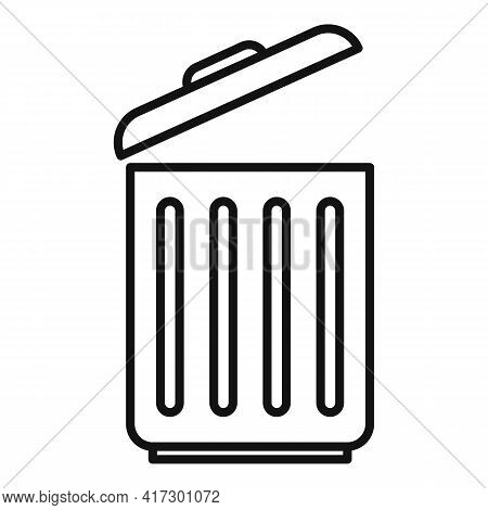 Recycle Bin Space Organization Icon. Outline Recycle Bin Space Organization Vector Icon For Web Desi