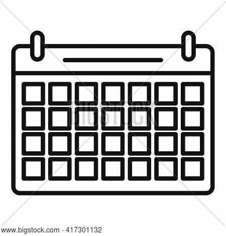 Space Organization Calendar Icon. Outline Space Organization Calendar Vector Icon For Web Design Iso