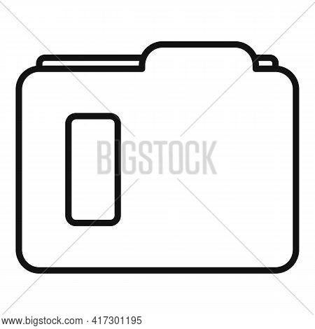 Carton Folder Icon. Outline Carton Folder Vector Icon For Web Design Isolated On White Background