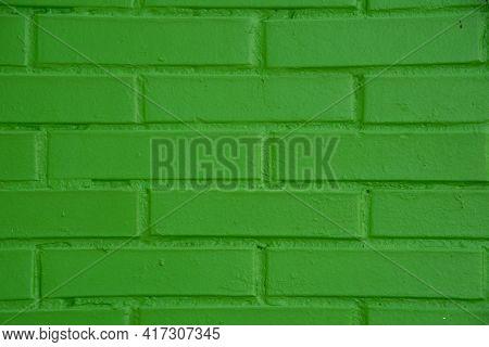 Masonry Wall Built With Exposed Brick Blocks