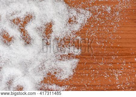 Monosodium Glutamate On Wooden Table Background, Msg For Food Seasoning