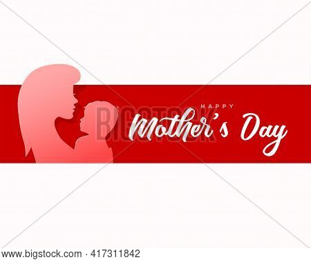 Happy Mother's Day Paper Style Card Design