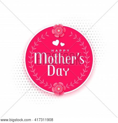 Happy Mother's Day Event Card Design Vector Template Design