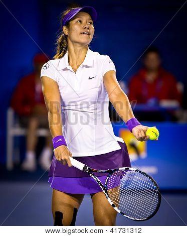 MELBOURNE - 26 janvier: Li Na, de la Chine dans sa perte à Victoria Azarenka (R) du Bélarus dans le 2013
