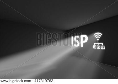 Isp Rays Volume Light Concept 3d Illustration