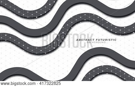 Abstract Black And White Groovy Background. Vector Banners Background. Vector Illustration.