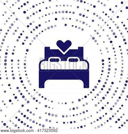Blue Bedroom Icon Isolated On White Background. Wedding, Love, Marriage Symbol. Bedroom Creative Ico
