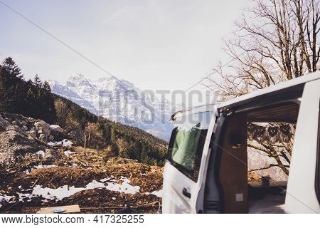 Vanlife - Live In A Beautiful Bus In The Nature Surrounded By Swiss Mountains