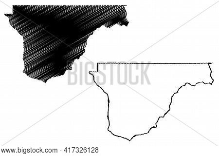 Franklin County, State Of Washington (u.s. County, United States Of America, Usa, U.s., Us) Map Vect