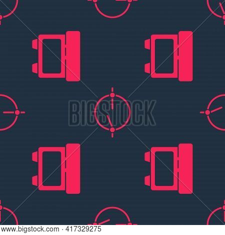 Set Fuse And Electric Circuit Scheme On Seamless Pattern. Vector