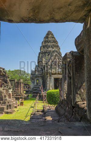 Prasat Hin Phimai Historical Park In Nakorn Ratchasima, North Eastern Of Thailand.
