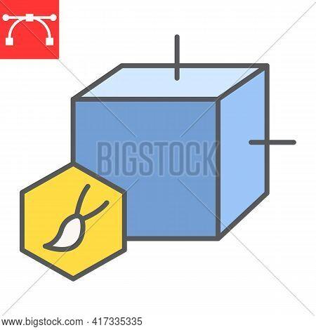 Art To Nft Color Line Icon, Unique Token And Nft Blockchain, Non Fungible Token Vector Icon, Vector