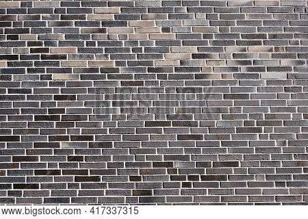 Background From A New Gray Brick Wall