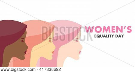 Different Women On Womens Equality Day, Vector Art Illustration.