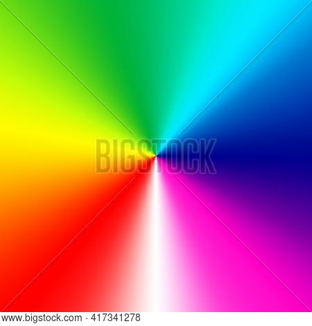 All Colors Of The Spectrum Are Arranged Around A Central Point.
