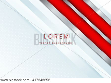 Template Corporate Banner Concept Red Silver Grey And White Contrast Background. You Can Use For Ad,