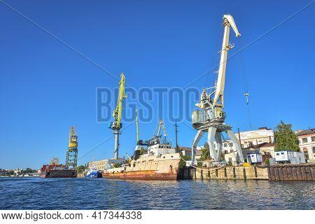 Sevastopol, Crimea, Russia - September 15, 2020: Ships And Cruise Liner In The Docks Of Sevastopol P