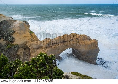 The Arch - Limestone Rock Formation On The Famous Great Ocean Road, Victoria, Australia
