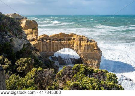 The Arch Rock Formation. Great Ocean Road, Victoria, Australia