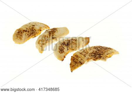 Roasted Poultry Sirloin Isolated On White Background - Packshot