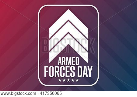 Armed Forces Day. Holiday Concept. Template For Background, Banner, Card, Poster With Text Inscripti