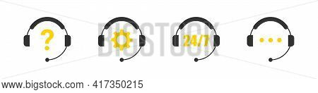 Call Center Icon. Support Icons. Live Chat Icon. Online Web Support. Hotline Icons. Vector Illustrat