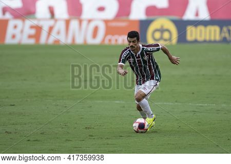 Rio, Brazil - April 17, 2021: Egidio Player In Match Between Fluminense V Botafogo By Carioca Champi