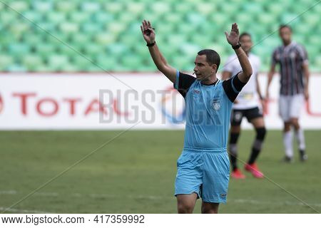 Rio, Brazil - April 17, 2021: Rodrigo Carvalhaes De Miranda Referee In Match Between Fluminense V Bo