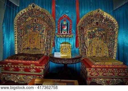 Ulaanbaatar. Mongolia. June 08, 2015. Exhibits Of The Palace Of The Last Emperor Bogdo-gegen Viii. G