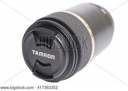 Moscow, Russia April 18, 2021 Tamron Sp Af 90mm F 2.8 Camera Photo Lens