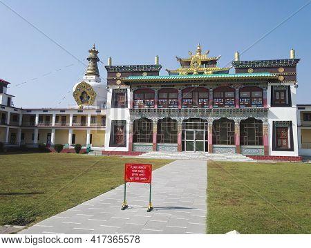 Dehradun, India - November 04, 2016: Colorful Art Decoration Carved On Religious Building Exterior S