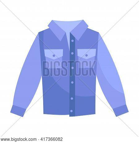 Cute Plain Elegant Light Blue Shirt. Comfortable Warm Bright Clothing Piece With Designer Pockets Su
