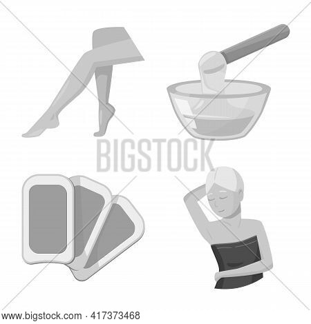 Isolated Object Of Shaving And Hygiene Logo. Collection Of Shaving And Safety Stock Symbol For Web.