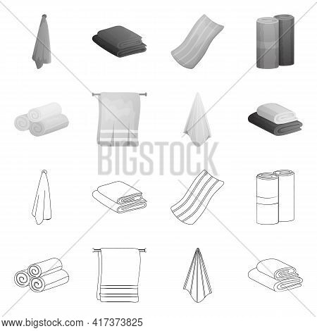 Vector Design Of Soft And Clean Sign. Set Of Soft And Household Stock Vector Illustration.