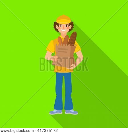 Vector Illustration Of Bakery And Natural Sign. Set Of Bakery And Business Stock Vector Illustration