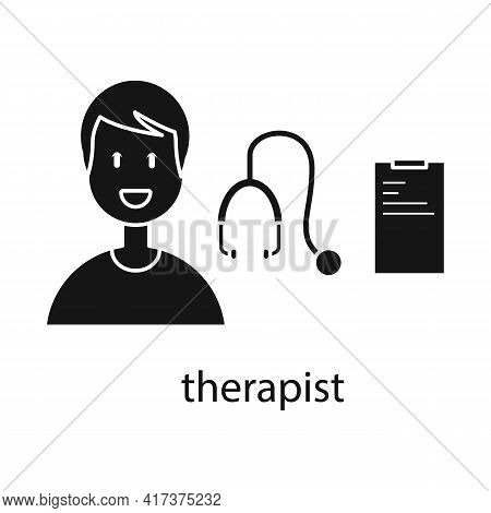 Vector Design Of Therapist And Doctor Icon. Collection Of Therapist And Rehabilitation Vector Icon F
