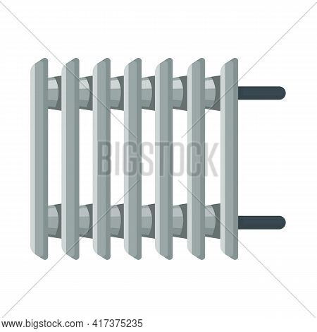 Vector Illustration Of Heater And Radiator Sign. Graphic Of Heater And Oil Vector Icon For Stock.