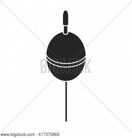 Fishing Float Vector Black Icon. Vector Illustration Fishing Float On White Background. Isolated Bla
