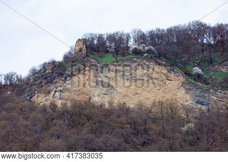Famous Bochorma Castle Town Ruins In Caucasus Mountain In Georgia