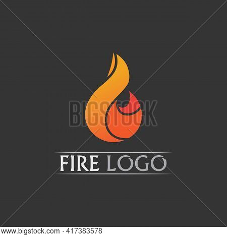 Fire Logo And Icon, Hot Flaming Element Vector Flame Illustration Design Energy, Warm, Warning, Cook