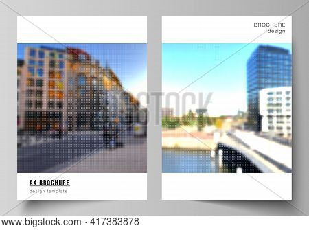 Vector Layout Of A4 Cover Mockups Design Templates For Brochure, Flyer, Booklet, Cover Design, Book