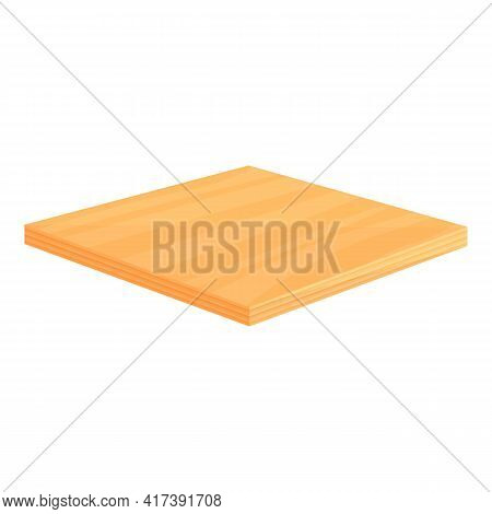 Wood Floor Square Icon. Cartoon Of Wood Floor Square Vector Icon For Web Design Isolated On White Ba