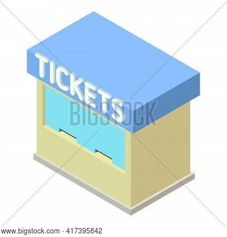Railway Station Tickets Icon. Isometric Of Railway Station Tickets Vector Icon For Web Design Isolat