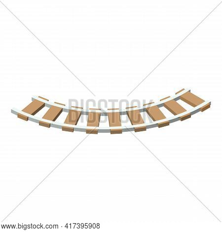 Railway Section Icon. Isometric Of Railway Section Vector Icon For Web Design Isolated On White Back